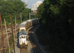 CITX 3079 leading P11 around the curve into Inman