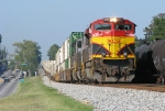NS 220 screams through Douglasville with KCS power on the point