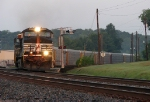 NS 285 highballing around the curve at Austell