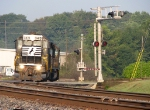 NS 3415 with G5A heads out of the yard to pull 22Z back into th yard.