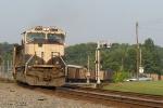 BNSF 9774 shoving on the rear of a Scherer Empty