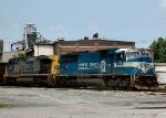 CSX 781 approaches Sandy Hook Yard