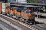 BNSF 5173 leads CSX train Q184 by Amtrak station