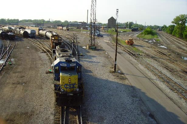 A look at the yard from the overhead bridge