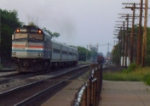 Amtrak 90219 heads east