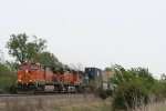 BNSF 5477 leading stacks