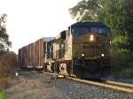 The evening sun shining on them, CSX 5270 & 8837 roll through Seymour with Q334-11