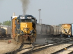 CSX 2569 works hard as Y201 pulls another cut of cars