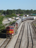 Having come up CSX as P901-14, the circus train now rests in GDLK's Hughart Yard