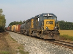 Q334-21 rolls east through the early autumn West Michigan countryside