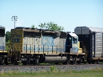 CSX 8096 idles with an autorack train