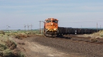 BNSF 6076 Leads a coal train West