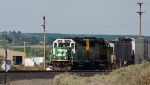 BNSF 1519 leads the Connell Turn back to Pasco