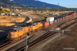 UP 7871 and 4007 begin their westward trekwith an intermodal train after a crew change and some provisioning