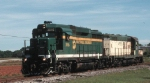 The first Hartwell painted unit, a GP30 works north of Livonia with ex CNW geep.