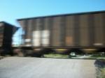 Speeding coal train