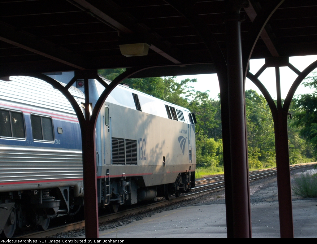 Amtrak 132 in Greensburg PA