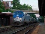 Amtrak 42 P42DC 188 Greensburg station Pennsylvanian