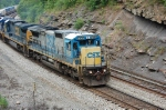 CSXT Dash-8 7557 on an eastbound stack train