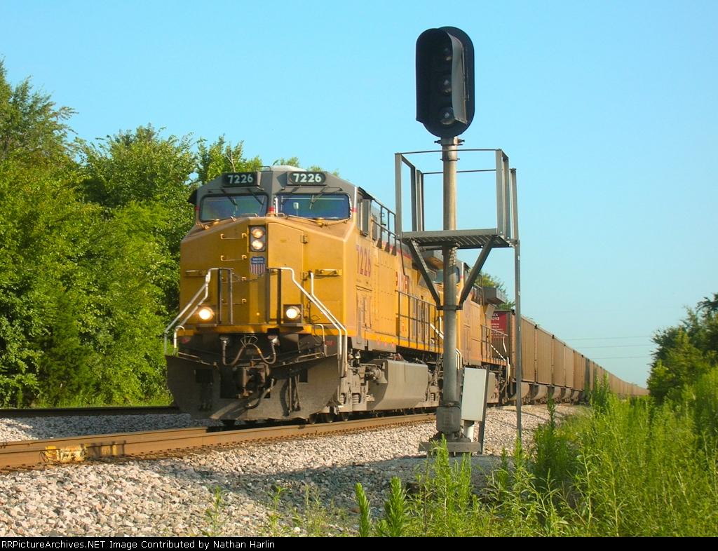 UP coal splitting signal.