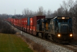 Still in Conrail paint, 7493 leads Q196-19 east
