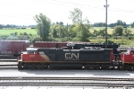"AQ nice surprise in the NS yard was this CN ""Thundercab"" between runs"
