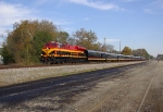 "KCS ""Retro Belle"" #4721 Leads Business Train"