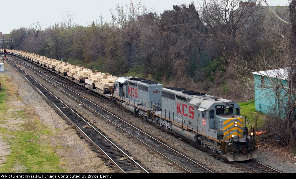 KCS Military Train With All-Tank Load