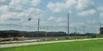 Woodchip Hoppers.  Autoracks are now gone.  June 2010