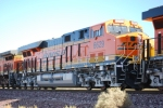 BNSF 6629 with BNSF 4013 behind her wait to roll west pulling a westbound Z-Train towards Barstow, Ca.