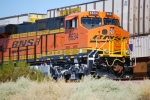 BNSF 6634 still waits to roll eastbound with a Z-Train at East Barstow, Ca.