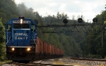 NS 5358 leads empty ballast east in Lilly PA
