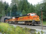 BNSF exiting the Cascade Mountain Tunnel