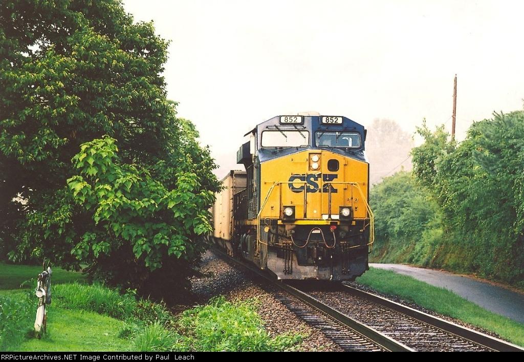 Rear DPU on loaded coal train