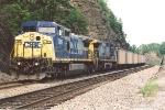 Empty coal train rolls west