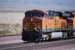 BNSF 7219 leads a westbound loaded coal train towards LA (This Coal Train runs once a week as is powered by all DC motors/Normally Coal trains are pulled by AC locomotives)  Engineer Blew Horn Too!!!