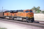 BNSF 7857 brings up the rear of the coal train being led by BNSF 7219 as they roll west.