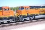 BNSF 7900 with BNSF 7879 roll west in a consist of 11 Locomotives being led by BNSF 7215.