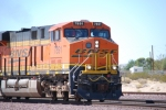 BNSF 7891 rolls east pulling a eastbound Z into the BNSF Barstow yard.