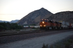 BNSF 7204 decends Cajon Pass at Dusk as she rolls west towards San Bernardino, Ca.