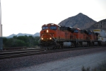 BNSF 7204 with BNSF 7279 behind her get closer to me as they head west towards the LA area with a Z-Train.