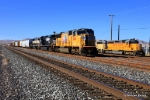 UP 3866 and a shark nose SD40-2