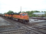 BNSF power about to cross the former Conrail diamonds