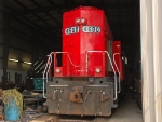 CP 4600 parked in the shop