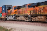BNSF 6644 rolls eastbound into the BNSF Barstow yard with BNSF 7869/BNSF 5244 in front of her.