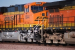 BNSF 6644 close up cab shot as she slows down for a crewchange at the STEPS BNSF Barstow yard, CA.
