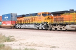 BNSF 6644 rolls eastbound with the Z LAC-LPC 26 as the # 3 unit.