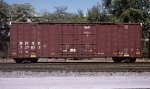 BNSF #727698, rostered as an Equipped Box Car with double plug-doors and wood floor,
