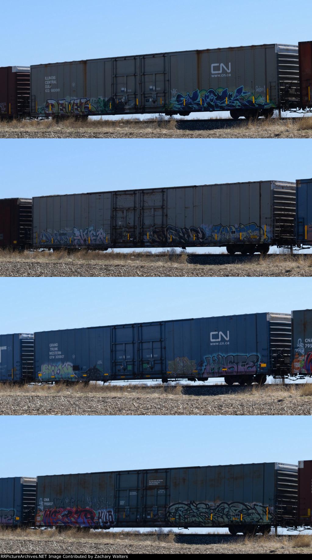 ICG IC GTW CNA Boxcars