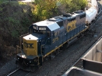 CSX 2779 shuffles cans in the west end of the yard